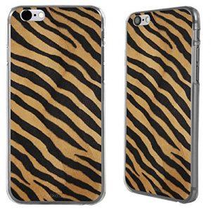 """Case Cover stampa leopardata per Apple iPhone 6 4.7"""" rigida posteriore - Tigre arancione e nero"""