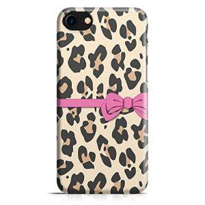Cover Custodia Protettiva Case Leggera Texture Leopardata Fiocco Elegante Donna Moda Fashion per Iphone 7 - Iphone 7 Plus -Iphone 8 - Iphone 8 Plus - Iphone X