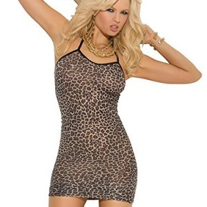 Elegant Moments donna leopardato antiscivolo mini vestito Brown taglia unica Regina
