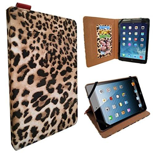 Elegante custodia leopardata, cover media supporto universale 17,8cm/17,8cm