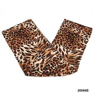 Morbida Loop/Tubo della sciarpa con moderno modello leopardo