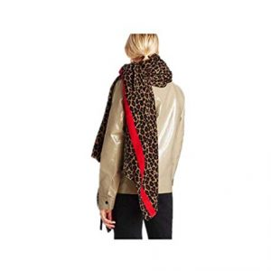 SKNSM Sciarpe invernali Fashion Leopard print Sciarpe Winter Sciarpa Warm Ww Wrap (Colore : As shown, Dimensione : Taglia unica)